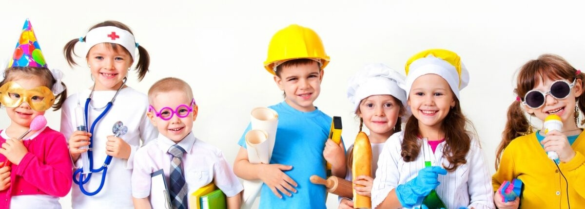school children playing different professions