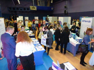 crowd of visitors at bladder and bowel symposium