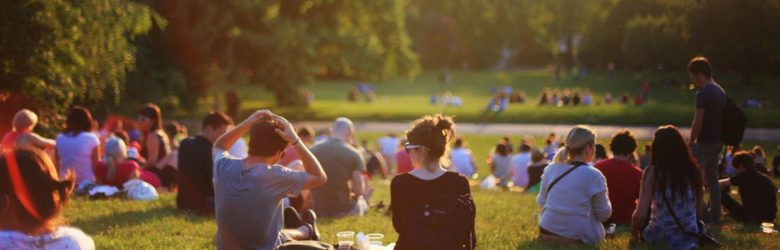 young people during summer in the park