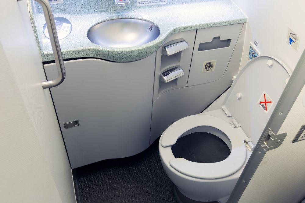 toilet on aeroplane