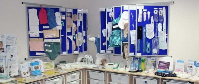 bbuk display of bladder and bowel products