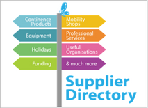 disabled living supplier directory logo