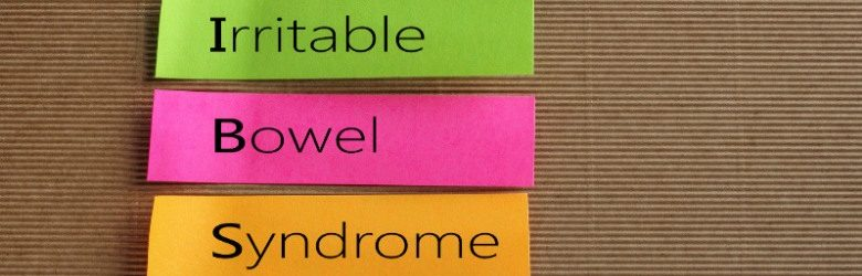 irritable bowel syndrome written on sticky notes
