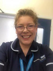 Picture of Karen Irwin in her nursing uniform
