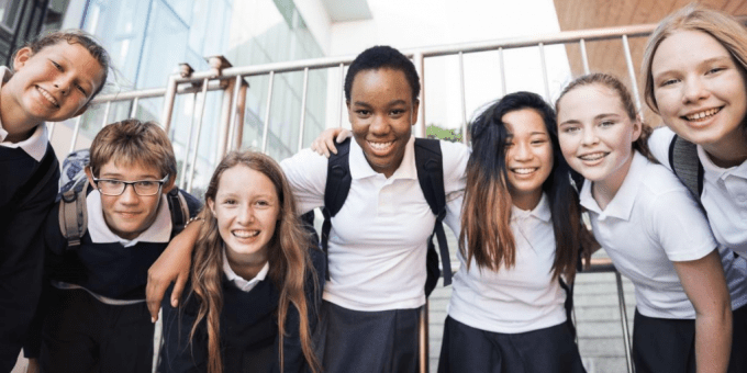 group of schools children