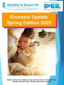 enuresis update cover spring 2020