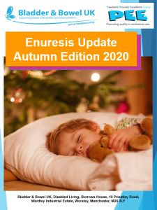 Enuresis update Autumn 2020 Front Cover