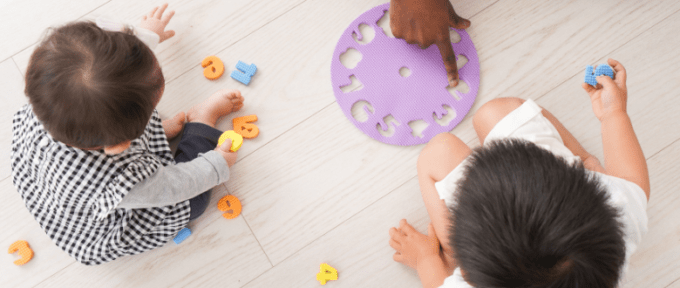 Children under five learning.